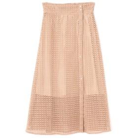 【ローズバッド/ROSEBUD】 レースボタン開きスカート
