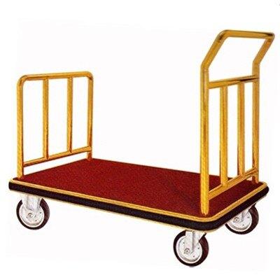 【屬過大商品,運費請先詢問】U型行李車(鍍鈦/紅毯)/H306T