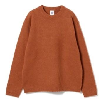 fennica <UNISEX>Jamiesons Knitwear / クルーネック シェットランド セーター レディース ニット・セーター BROWN L