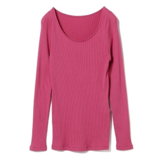 Demi-Luxe BEAMS Demi-Luxe BEAMS / テレコ プルオーバー レディース カットソー PINK ONE SIZE