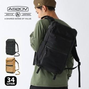 AS2OV アッソブ WPコーデュラ305Dラウンドジップバックパック リュック バッグ デイパック 34リットル ビジネス