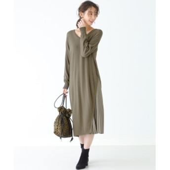 B:MING by BEAMS B:MING by BEAMS / プリーツコンビニット ワンピース 19AW レディース ワンピース OLIVE ONE SIZE