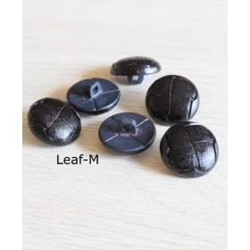 【Vintage】ブラック 格子 ビンテージボタン(2個)