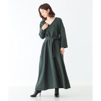Demi-Luxe BEAMS 31 Chapel Lane / 別注 PHOEBE ベルトワンピース レディース ワンピース GREEN S
