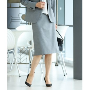 Demi-Luxe BEAMS 【予約】Demi-Luxe BEAMS / シャークスキン タイトスカート 20FO レディース 膝丈スカート GREY 38
