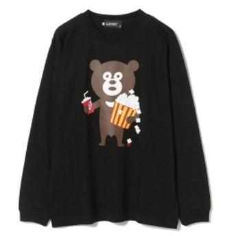 BEAMS T The Wonderful! design works. / Popcorn Bear Long Sleeve Tee メンズ Tシャツ BLACK M
