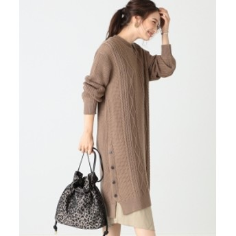 B:MING by BEAMS B:MING by BEAMS / ケーブル編み コンビワンピース 19AW レディース ワンピース MOCHA ONE SIZE