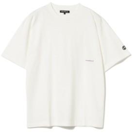BEAMS T CHARI & CO / BOLD LOGO ON RIB TEE メンズ Tシャツ WHITE XL