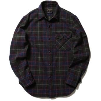BEAMS PLUS BEAMS PLUS / ガイドツイード チェックシャツ メンズ カジュアルシャツ GREEN L