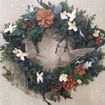 [Creema 限定] [クリスマス企画2019] フレッシュグリーンのクリスマスリース