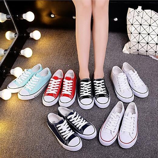 帆布鞋 新品小白帆布女鞋秋季鞋正韓秋鞋黑色布鞋學生球鞋板鞋