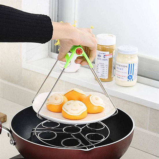 隔熱夾 電鍋 加熱 烘焙 烹飪 料理 用餐 隔熱 蓋子 食物 夾取 懸掛 不鏽鋼防燙夾【N092-1】慢思行
