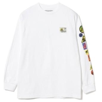 BEAMS ANTI HERO / パーク ロングスリーブ プリント Tシャツ メンズ Tシャツ WHITE M
