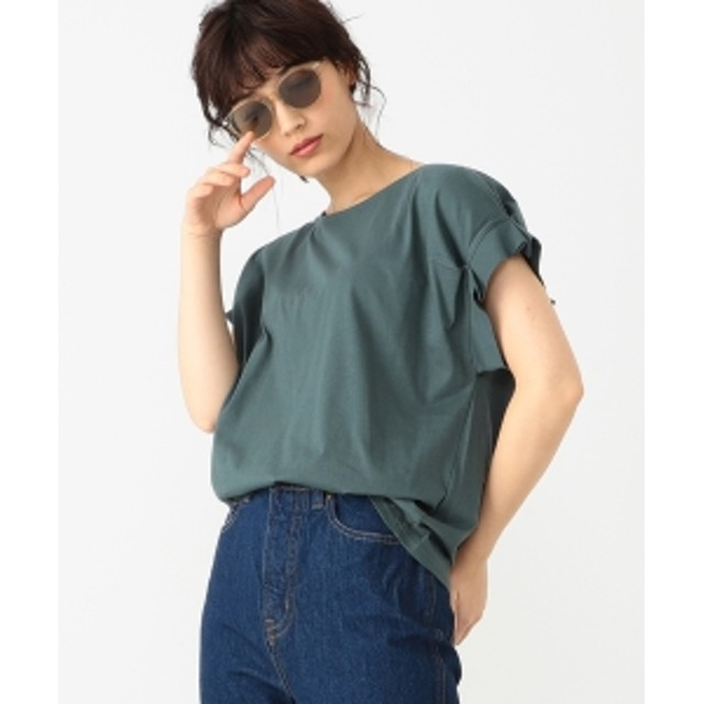 B:MING by BEAMS B:MING by BEAMS / タックスリーブ Tシャツ 19SS レディース Tシャツ GREEN ONE SIZE