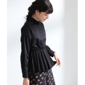 Ray BEAMS Ray BEAMS / プリーツ キリカエ レギュラーシャツ レディース カジュアルシャツ BLACK 0