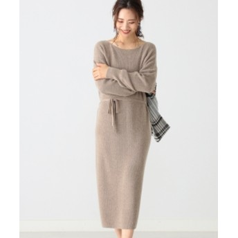 B:MING by BEAMS 【Steady1月号掲載】B:MING by BEAMS / アンゴラ混 カタアゼワンピース 19AW-P レディース ワンピース BEIGE ONE SIZE