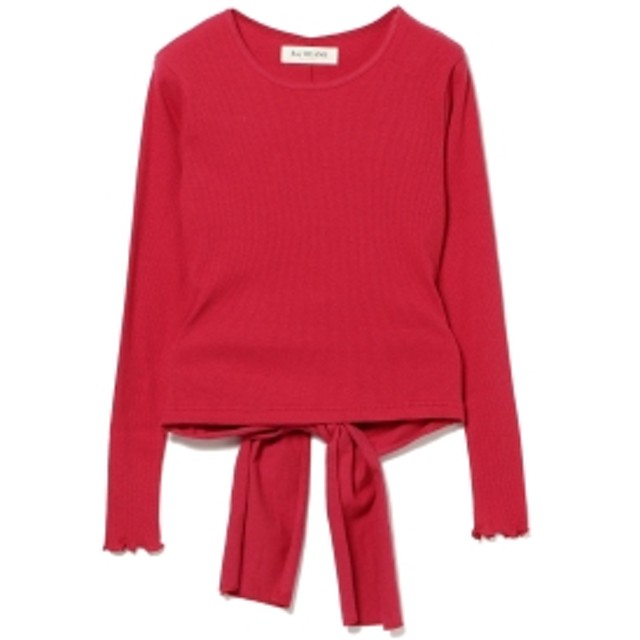Ray BEAMS Ray BEAMS / テレコ バック リボン Tシャツ レディース Tシャツ RED ONE SIZE