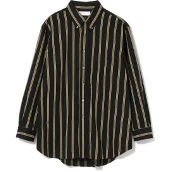 International Gallery BEAMS IG / ビッグ B.D レジメンタルストライプシャツ メンズ カジュアルシャツ BLACK REGIMEN L