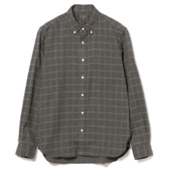 BEAMS PLUS BEAMS PLUS / ドビーギンガムチェック シャギーボタンダウンシャツ メンズ カジュアルシャツ C.GREY XL