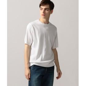 【40%OFF】 トゥモローランド コットン リブストライプ ニットTシャツ メンズ 11ホワイト M 【TOMORROWLAND】 【セール開催中】