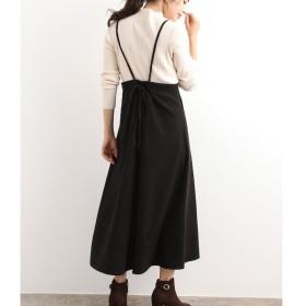 【ビス/ViS】 【WEB限定】バックリボンジャンパースカート