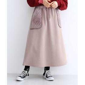 メルロー キルティングポケットAラインスカート レディース ピンク FREE 【merlot】