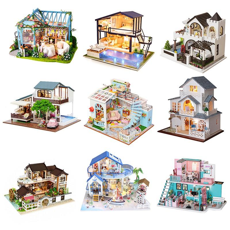 Cutebee Diy小屋袖珍屋 大型別墅 現貨 附防塵罩音樂盒LED燈 微景觀娃娃屋 手工製作小房子模型拼裝交換禮物