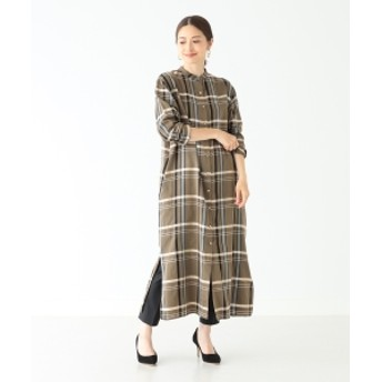 Demi-Luxe BEAMS Demi-Luxe BEAMS / チェックシャツワンピース レディース ワンピース MULTI ONE SIZE