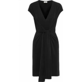 バイ マレーネ ビルガー BY MALENE BIRGER レディース ワンピース ワンピース・ドレス Quinnas tie-front crepe-jersey dress Black