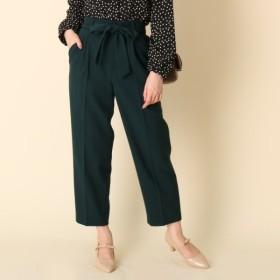 [マルイ]【セール】リボンツイルテーパードパンツ/クチュールブローチ(Couture Brooch)
