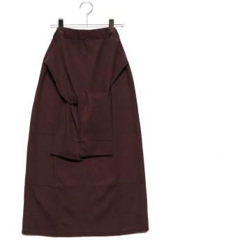スタイルブロック STYLEBLOCK 起毛サカリバリボンスカート (ブラウン)