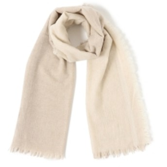 Demi-Luxe BEAMS ASAUCE MELER / ウール 2トーンストール レディース ストール・スヌード WHITE/BEIGE ONE SIZE