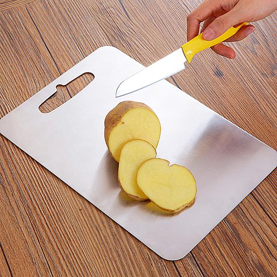 切菜板 304不銹鋼 刀板廚房 加厚雙面 抗菌 防霉 無味 蔬菜 小 304不鏽鋼砧板【Z005】生活家精品