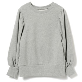 fennica <WOMEN>A New Dawn Bathes The World In A Fresh Light. by mo / 箔プリント パフスリーブ スウェットシャツ スウェット GREY S