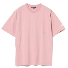 BEAMS T CHARI & CO / BOLD LOGO ON RIB TEE メンズ Tシャツ PINK XL