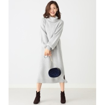 B:MING by BEAMS 【mina12月号掲載】B:MING by BEAMS / FOX混 タートルネックワンピース 19AW レディース ワンピース T.GREY ONE SIZE