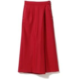 EFFE BEAMS PT01 / ソリッドラップワイドパンツ◎ レディース その他パンツ RED 38