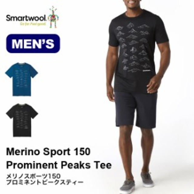 Smartwool スマートウール メンズ メリノスポーツ150プロミネントピークスティー Tee SW62079 Tシャツ カットソー