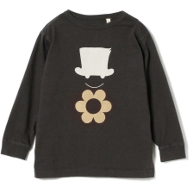 こども ビームス Bohemians / フラワーハットルーズ Tシャツ 19 (2~10才) キッズ Tシャツ BLACK XXL(10)