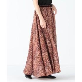 Demi-Luxe BEAMS ne Quittez pas / コットン レオパードスカート レディース マキシ・ロング丈スカート BROWN ONE SIZE