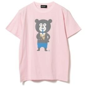 BEAMS T The Wonderful! design works / タピオカ Bear Tee メンズ Tシャツ PINK L