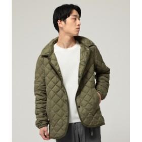 BEAMS Traditional Weatherwear × BEAMS / 別注 WAVERLY インナーダウン フーディー メンズ ダウンジャケット・ベスト OC03 KHAKI 42