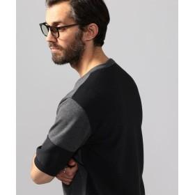 【40%OFF】 トゥモローランド コットン バイカラー ニットTシャツ メンズ 17チャコールグレー M 【TOMORROWLAND】 【セール開催中】