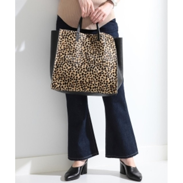 Ray BEAMS LAURA DI MAGGIO × Ray BEAMS / 別注 ハラコ トートバッグ レディース トートバッグ LEOPARD ONE SIZE