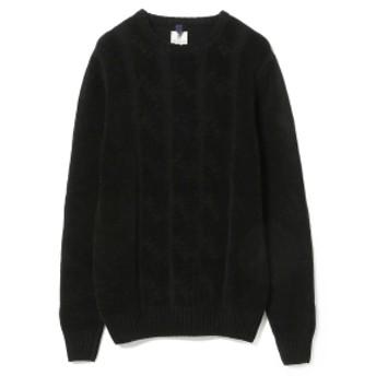 Brilla per il gusto Mc LAUREN / ケーブル クルーネック ニット メンズ ニット・セーター BLACK 44