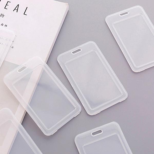 【BlueCat】簡約風格透明悠遊卡識別證卡片套