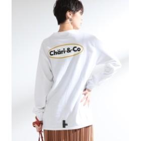 Ray BEAMS Chari & Co × Ray BEAMS / 別注 ロゴ ロングスリーブ Tシャツ レディース Tシャツ WHITE ONE SIZE
