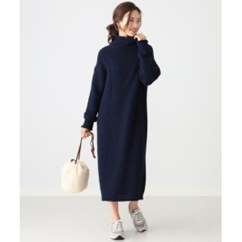 B:MING by BEAMS 【GISELe12月号掲載】B:MING by BEAMS / エドワード タートルネックワンピース 19AW レディース ワンピース NAVY ONE SIZE
