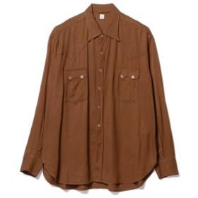 Pilgrim Surf+Supply KAPTAIN SUNSHINE / Cowboy Shirt メンズ カジュアルシャツ BRICK BROWN 36