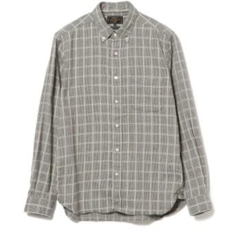 BEAMS PLUS BEAMS PLUS / ドビーギンガムチェック シャギーボタンダウンシャツ メンズ カジュアルシャツ LT. GREY XS